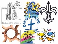 Collage verschiedener Logos von Gruppen und Kreisen